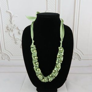 Jewelry - Satin Ribbon and Bead Necklace